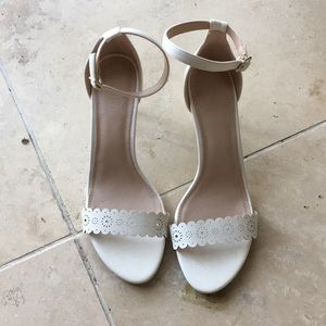 Old Navy White Heeled Sandals